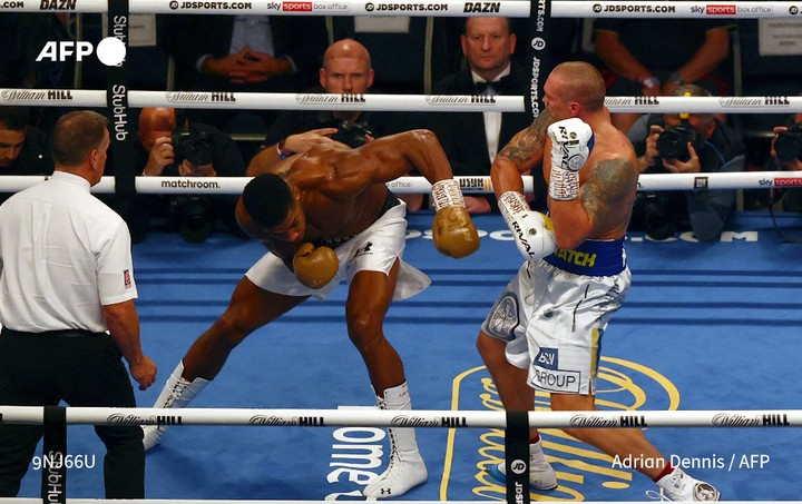 Anthony Joshua Taken To Hospital With A Suspected Broken Eye Socket